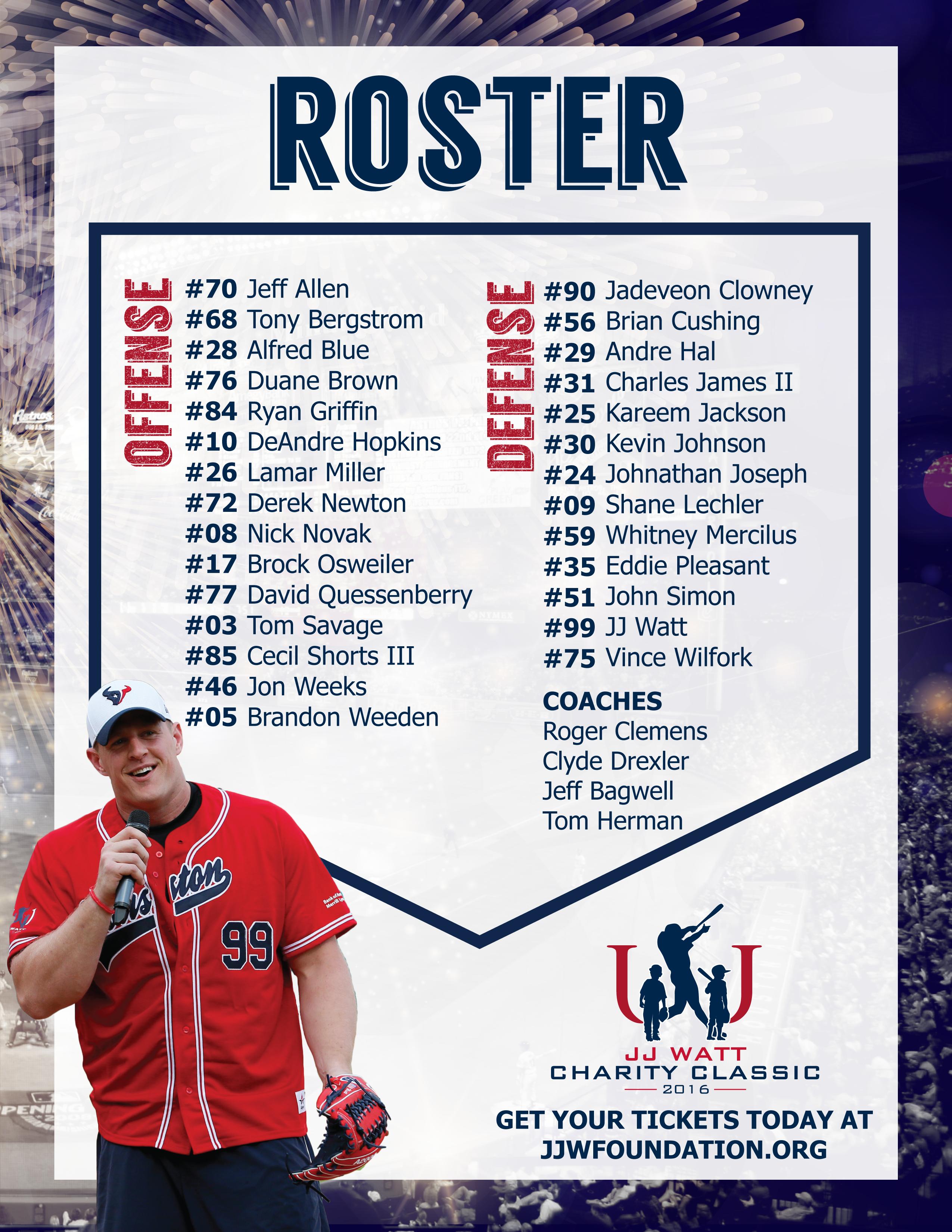 2016 JJWF Roster
